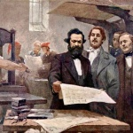 Marx-and-Engels-at-the-Rheinische-Zeitung