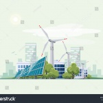 stock-vector-solar-panels-and-wind-turbines-in-front-of-the-city-skyline-in-the-background-eco-green-city-theme-581537176