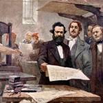 Marx-and-Engels-at-the-Rheinische-Zeitung